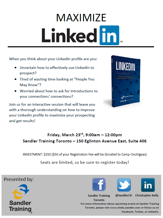 Maximize LinkedIn - March