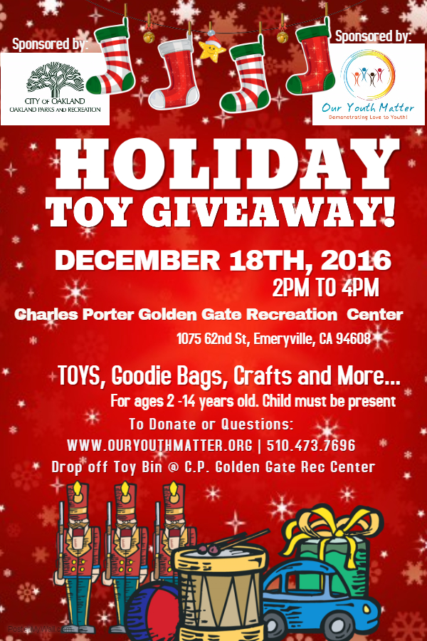 Toy Giveaway Flyer