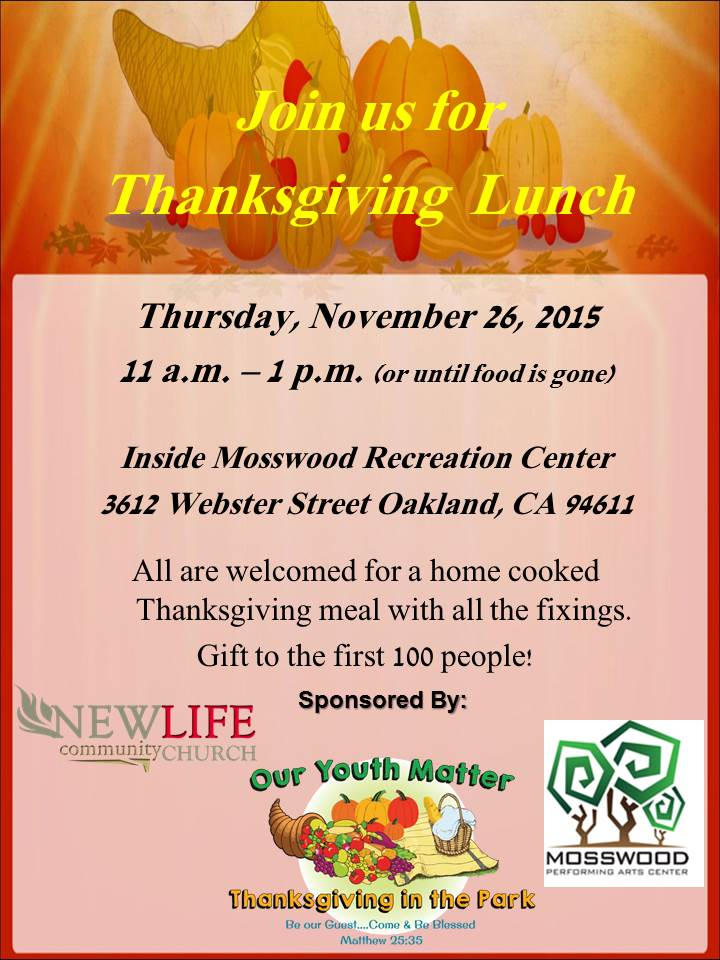 Thanksgiving in the park flyer
