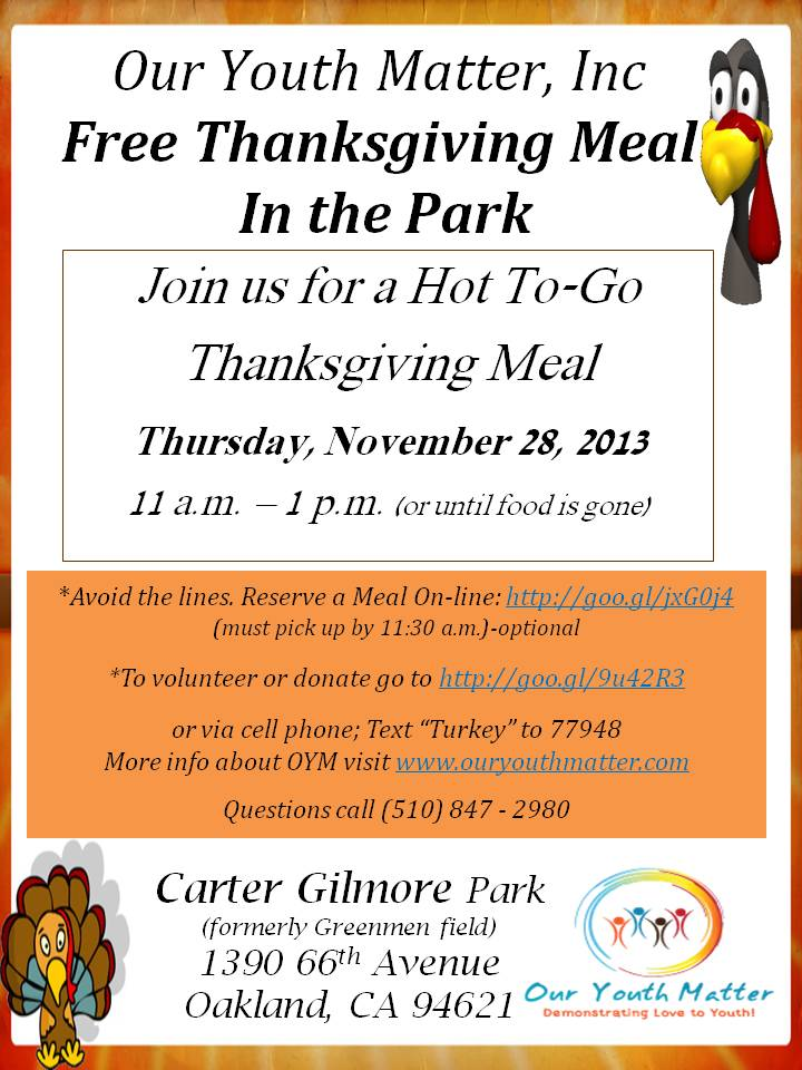 Thanksgiving in the park e
