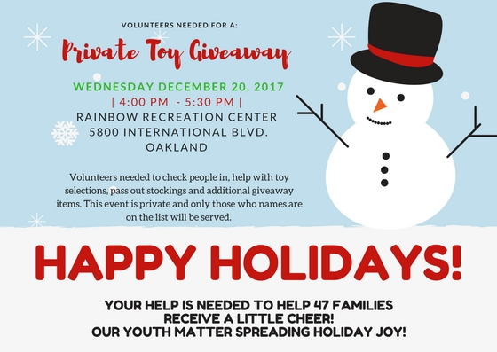 Private Toy Giveaway flyer