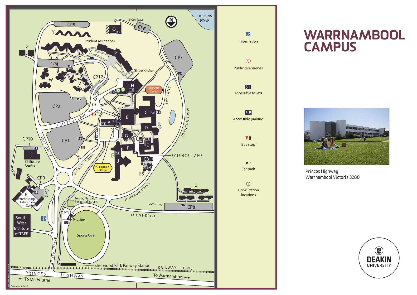 Deakin Warrnambool Campus Map