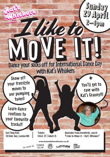 Poster advertising the Kat's Whiskers dance party