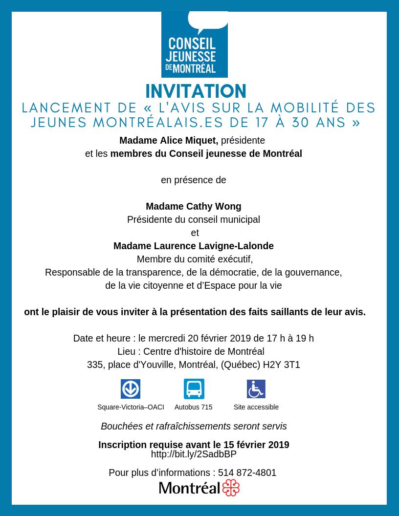 Invitation lancement mobilité