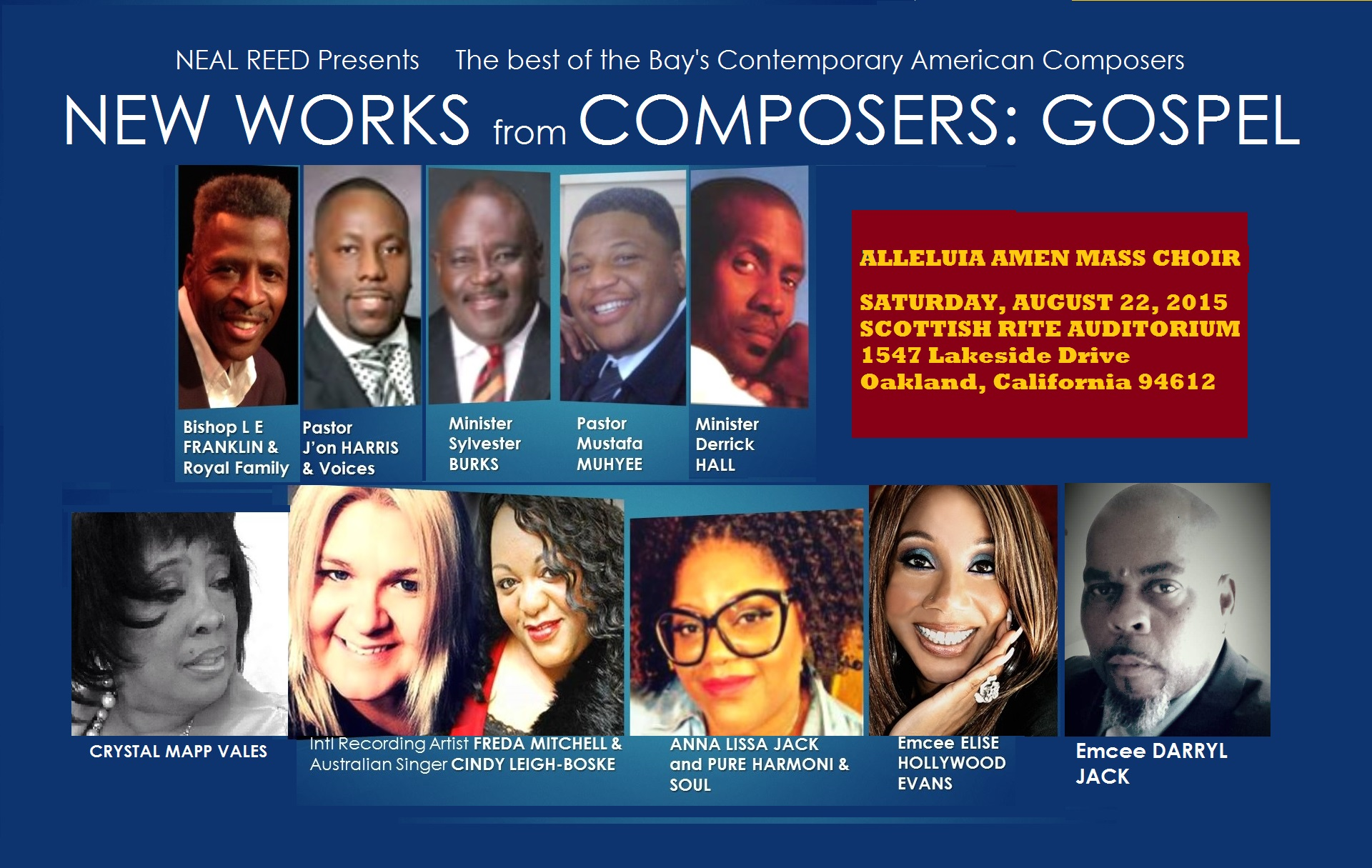Neal Reed Presents NEW WORKS by GOSPEL Composers