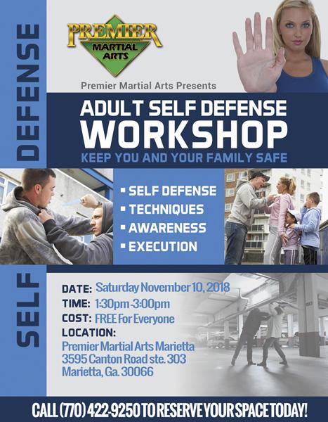 Adult Self Defense at Premier Martial Arts Marietta