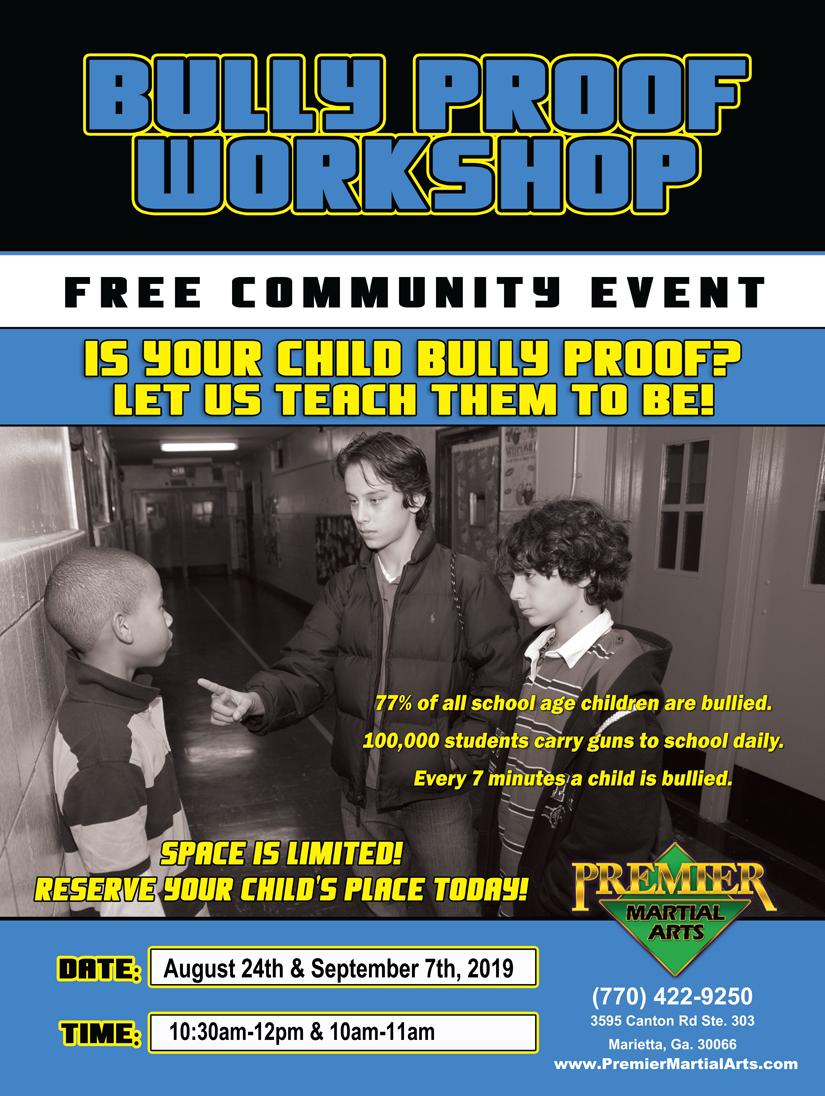 Bully Proof Workshop at Premier Martial Arts Marietta