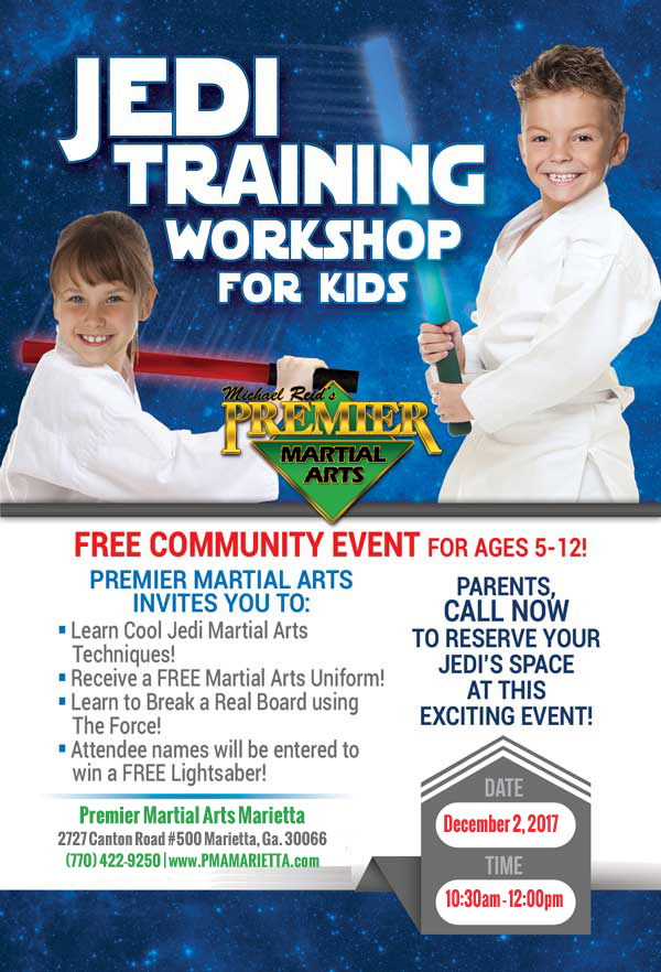 Jedi Training Workshop For Kids - Dec 2, 2017