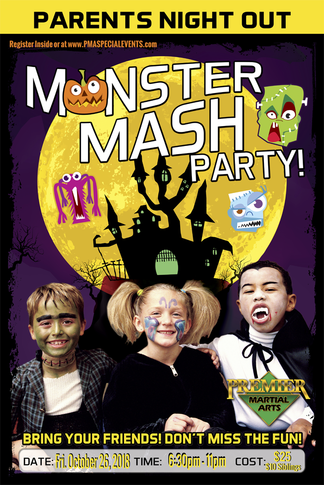 Monster Mash Parents Night Out at Premier Martial Arts Marietta