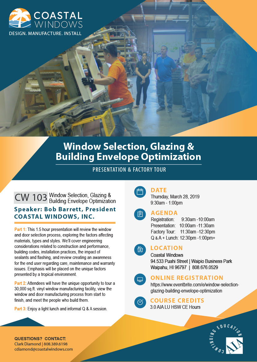 Coastal Windows 2019-03 AIA Seminar