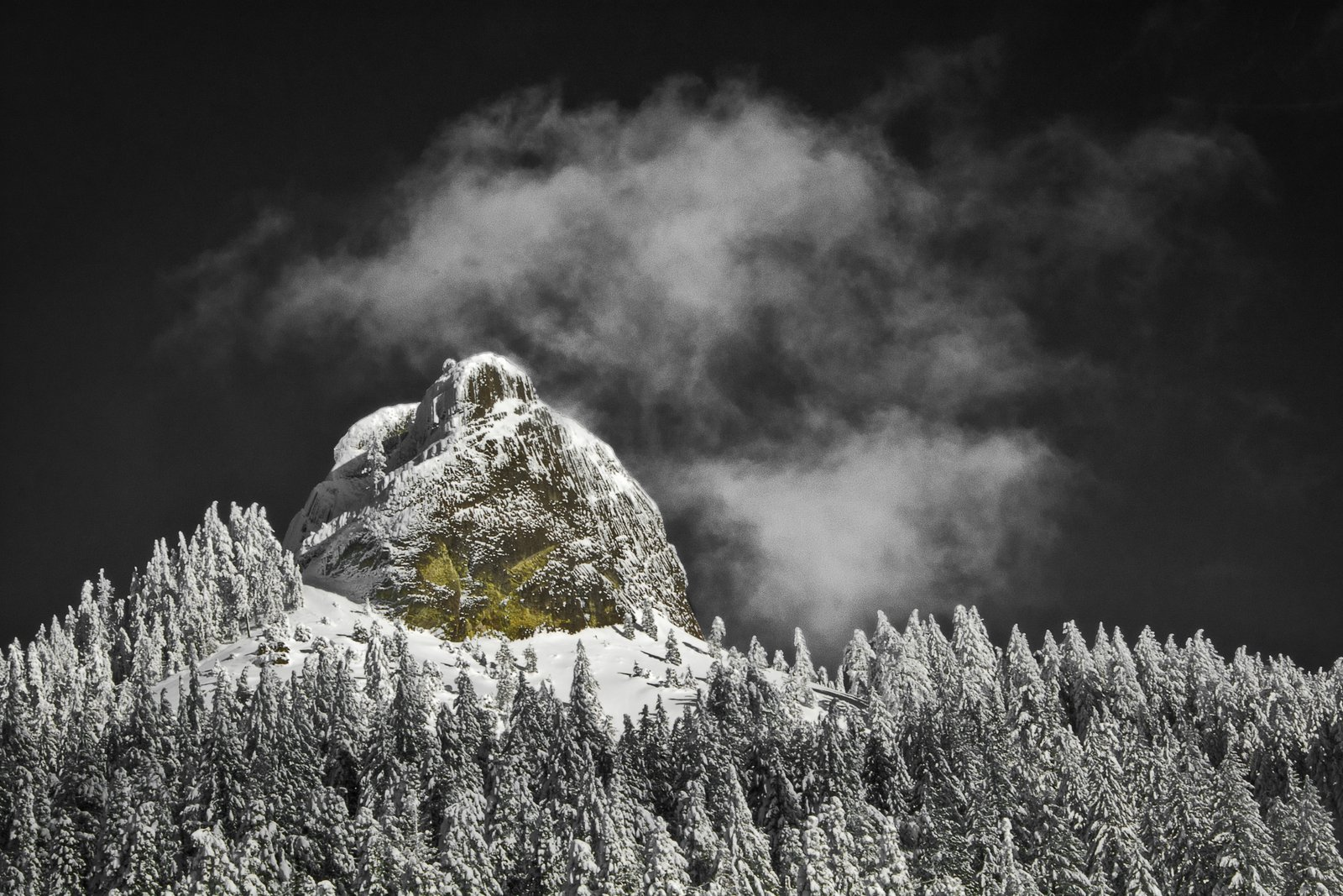 Pilot Rock in Deep Winter