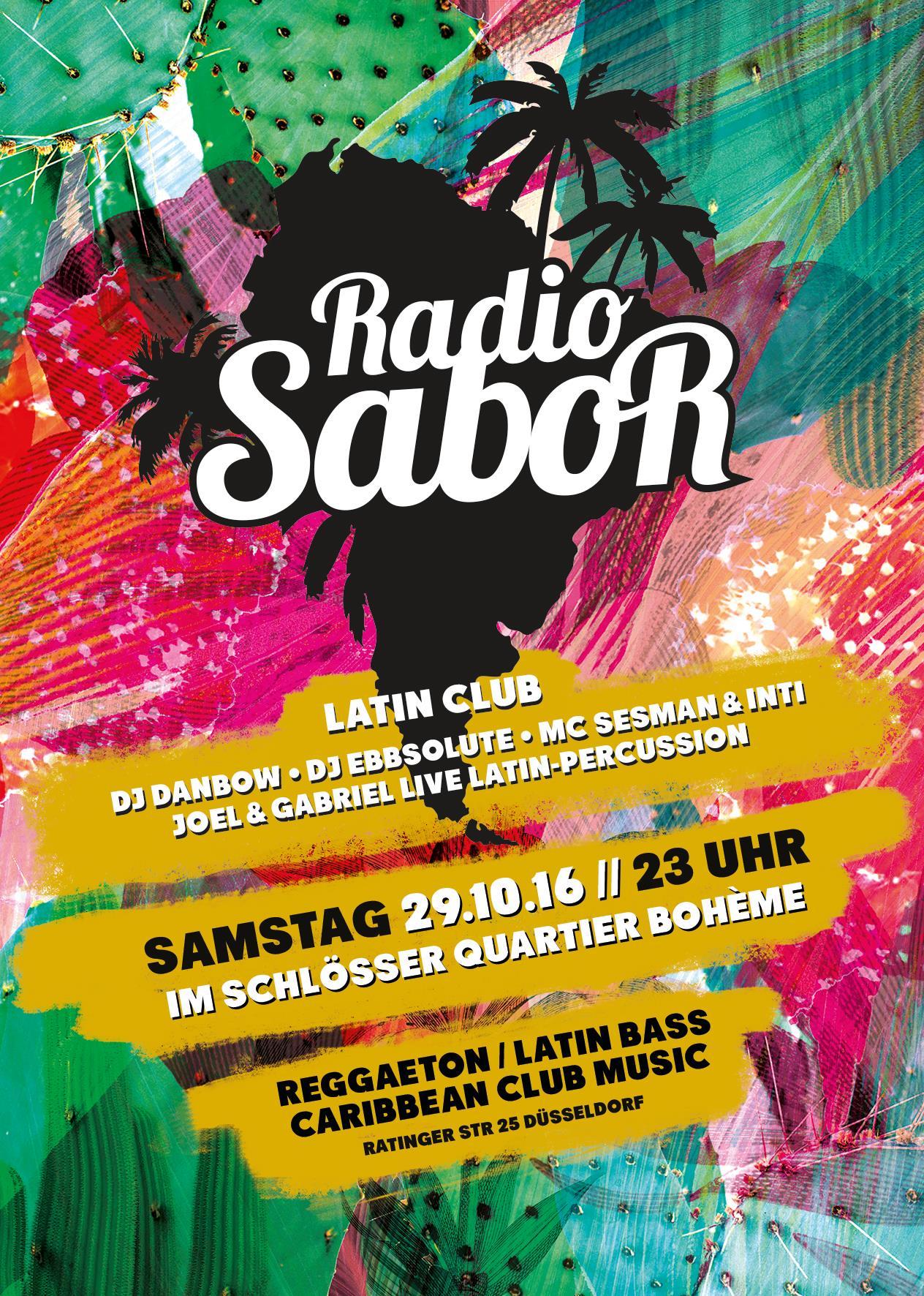 Flyer der RADIO SABOR Düsseldorf Oktober 2016