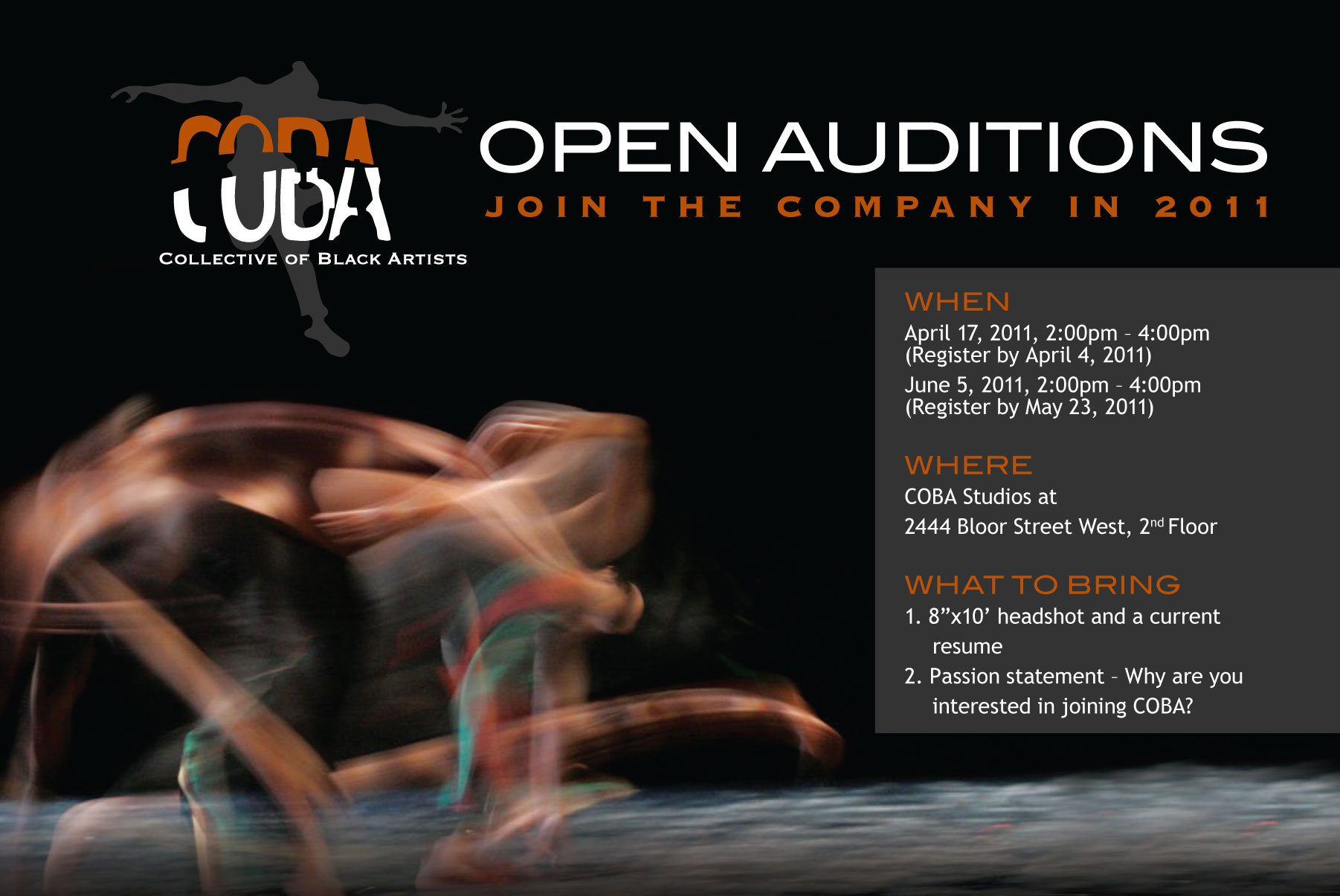 Postcard for Open Auditions