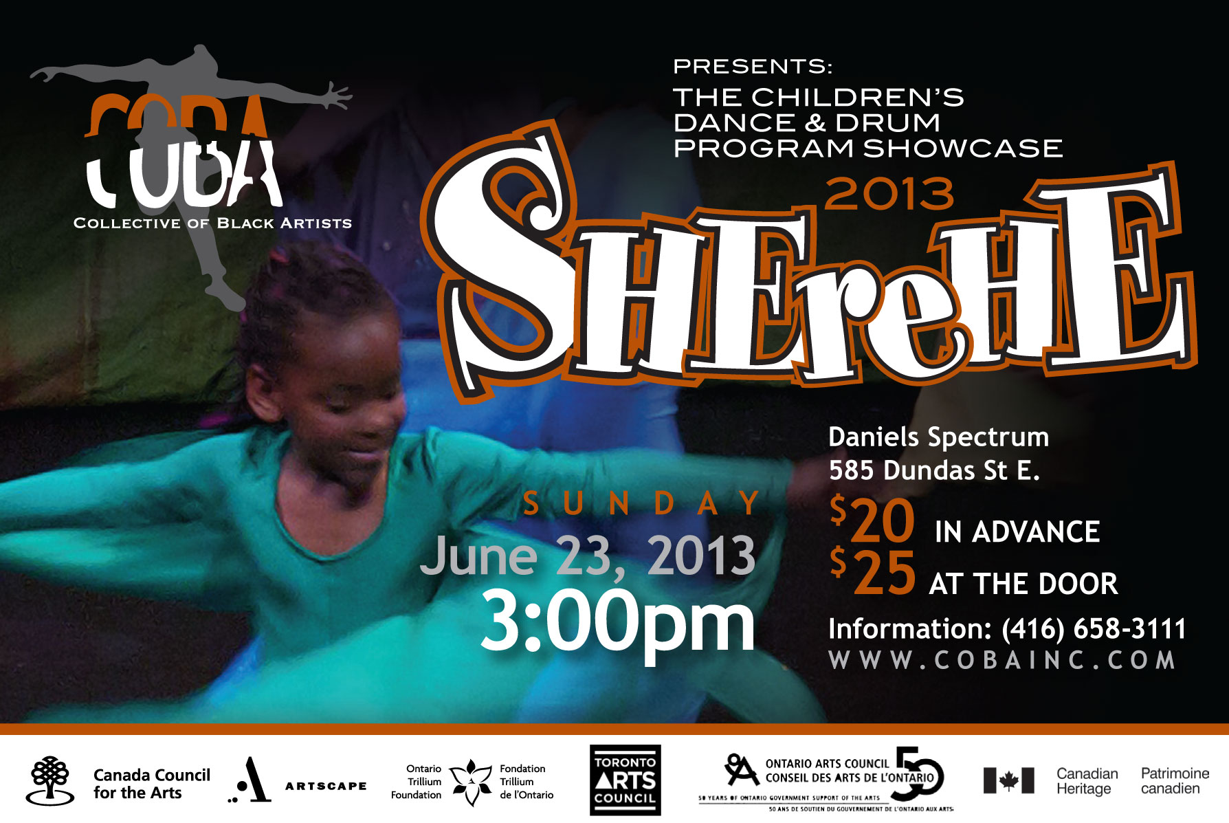 COBA presents the Children's Dance and Drum Program Showcase, SHEreHE 2013