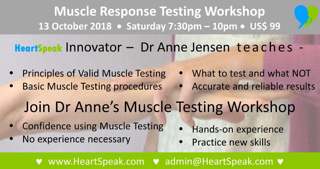 New York Muscle Response Testing Description