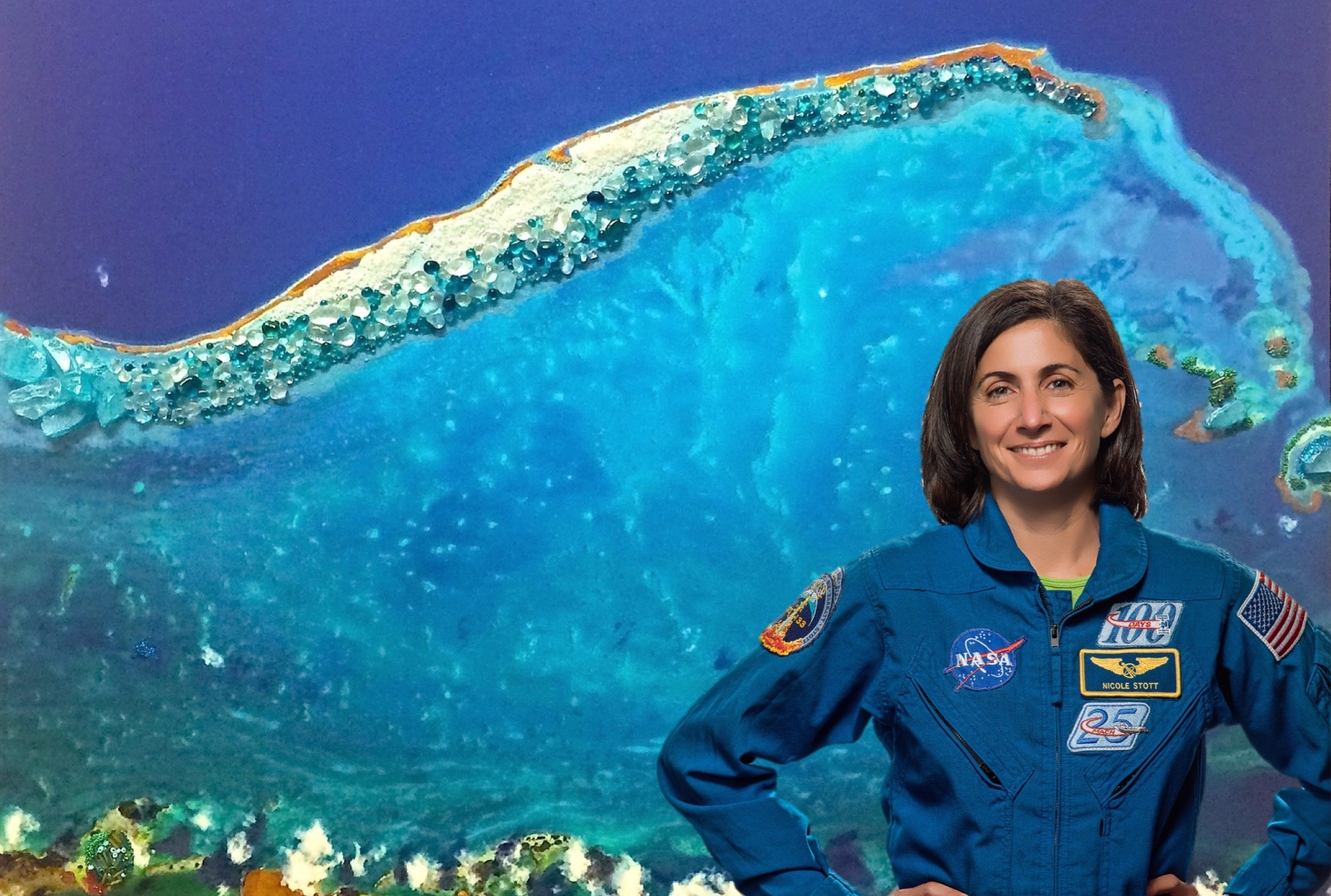 Astronaut Nicole Stott NASA charity event