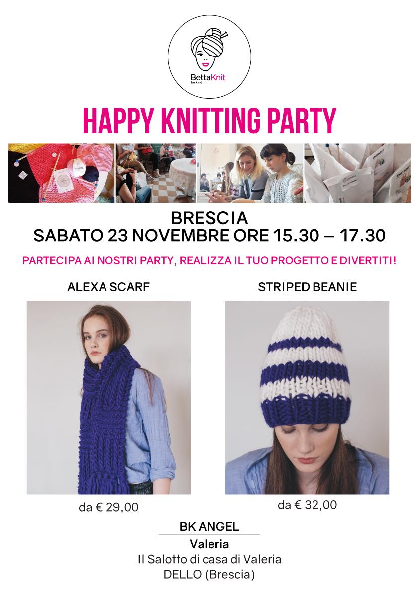 knitting party Brescia