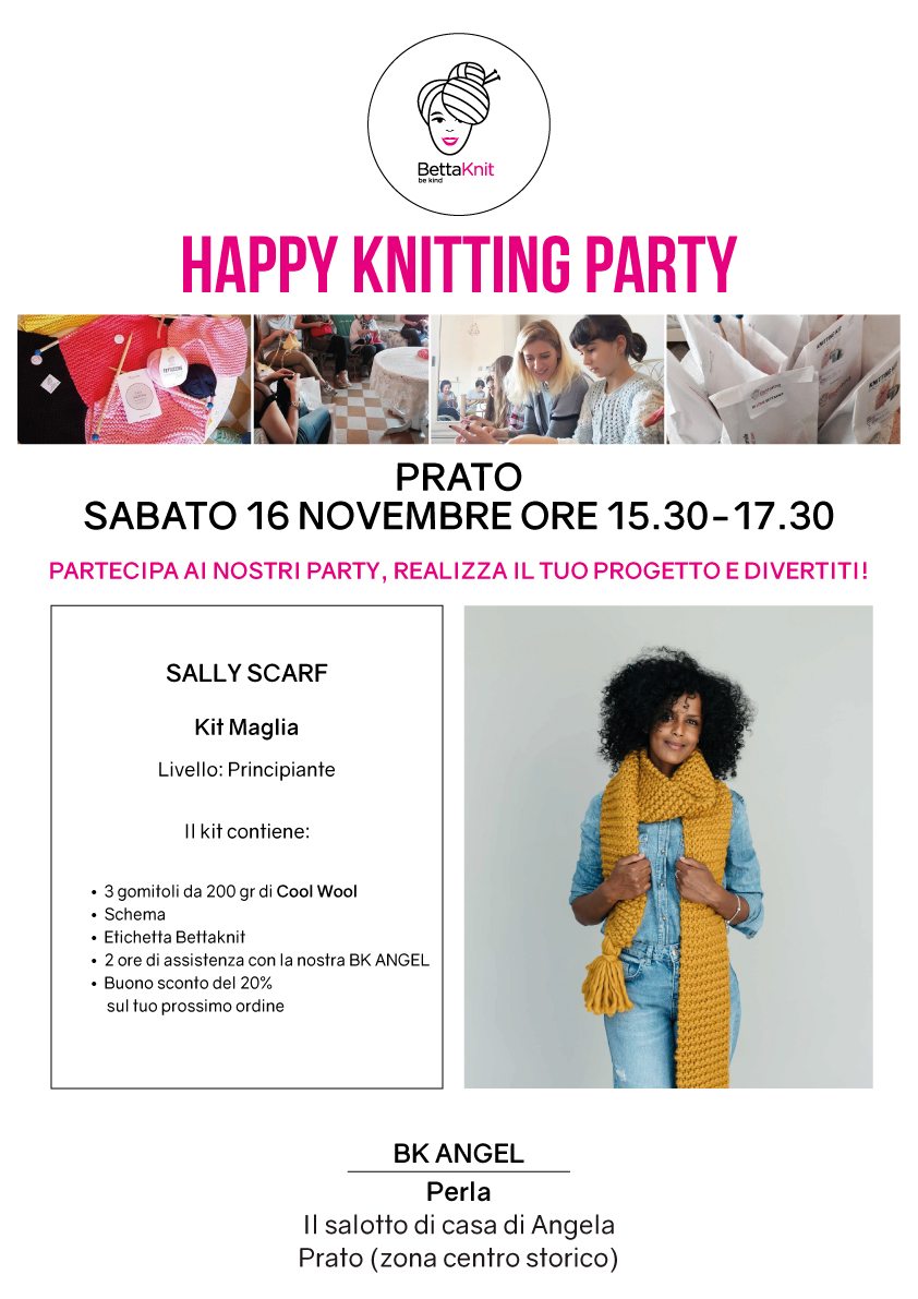 knitting party Prato