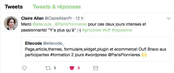Formation Wordpress 2 jours ElleCode
