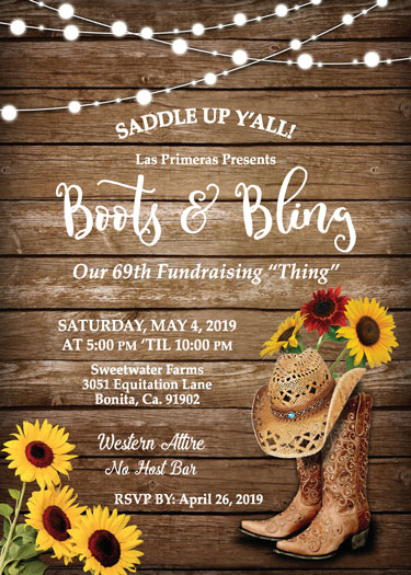 Boots & Bling Invitation