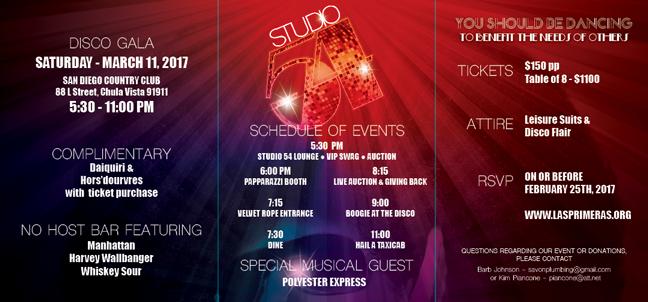 Las Primeras - Saturday Night Fever Invite