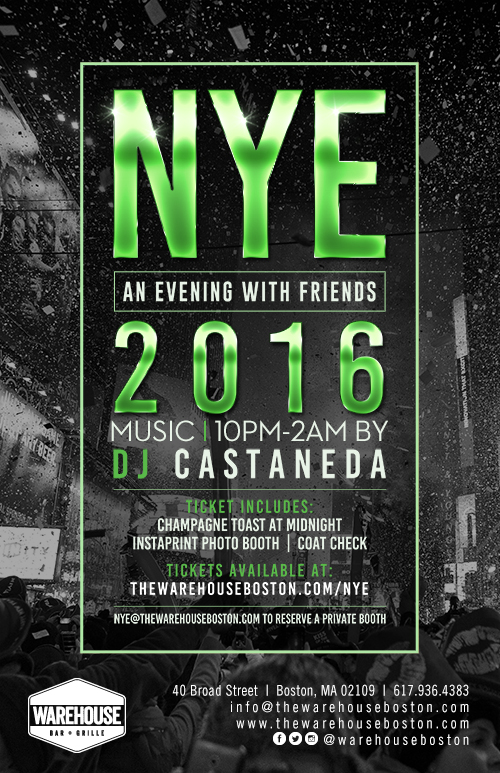 New year s eve warehouse bar grille tickets boston