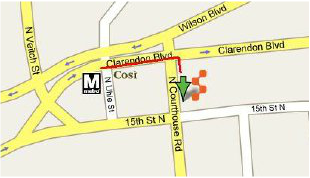 Map from the metro station to 1515 N. Courthouse Road