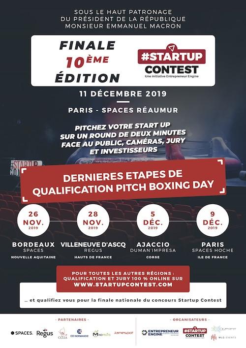Affiche du Startup Contest 2019 les 10 ans