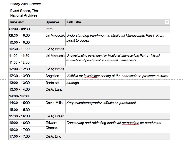 Under the skin timetable part 2