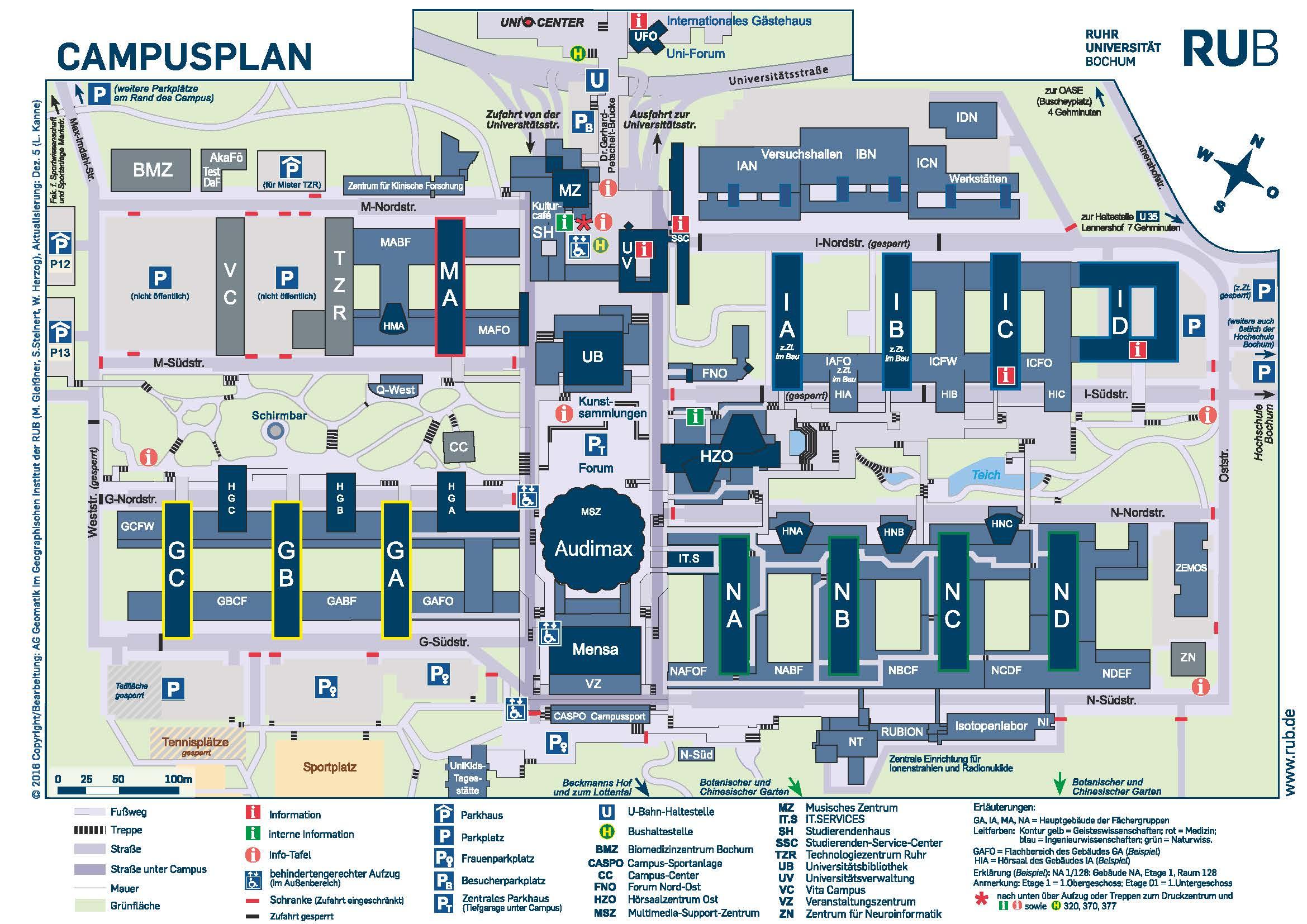 Lageplan Ruhruni Bochum