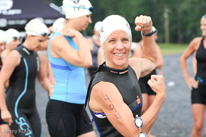 Luray Triathlon swimmer