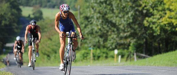christine on the bike