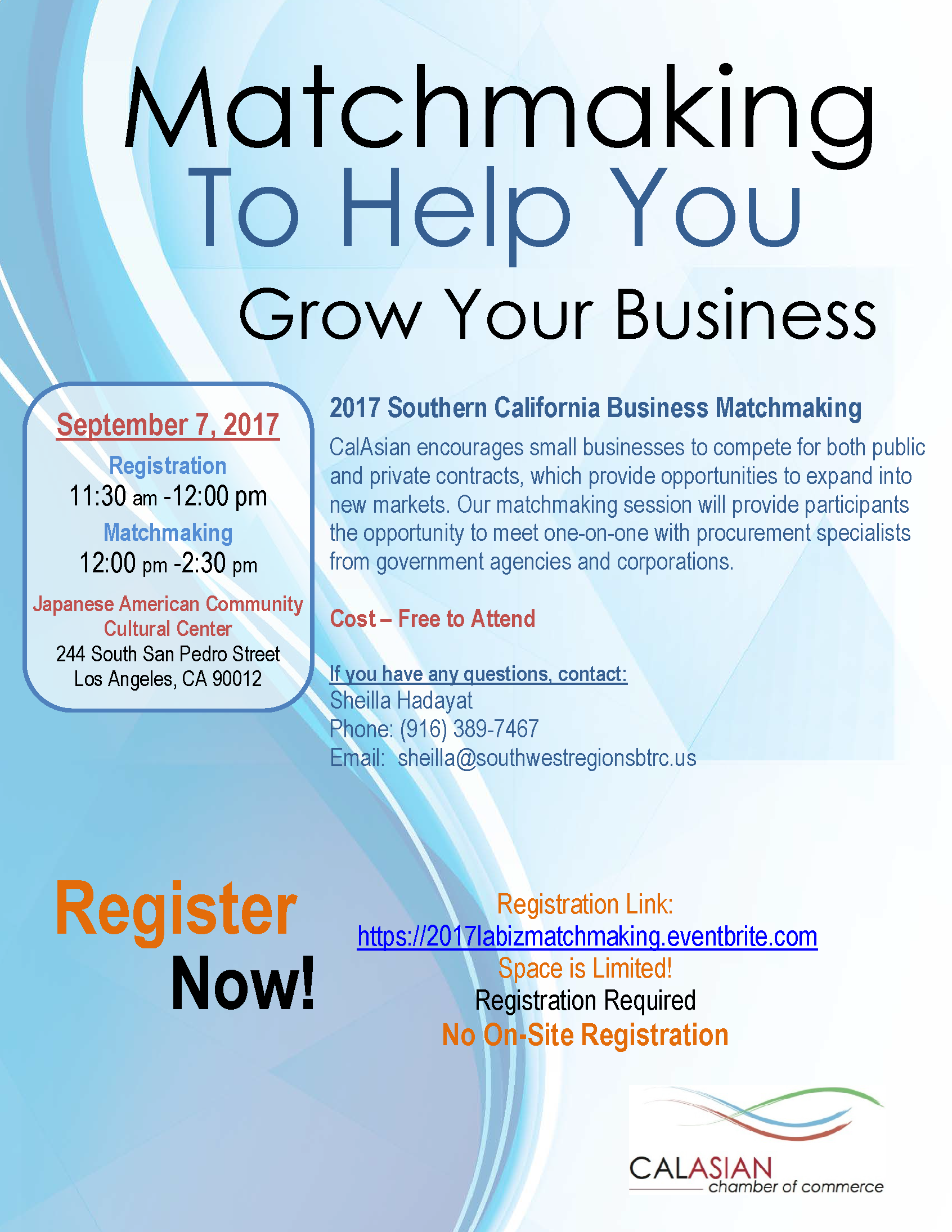 matchmaking as a business Find the perfect match registration will close for suppliers on wednesday, june 13th at 11:00 am so register now to participate in the event.