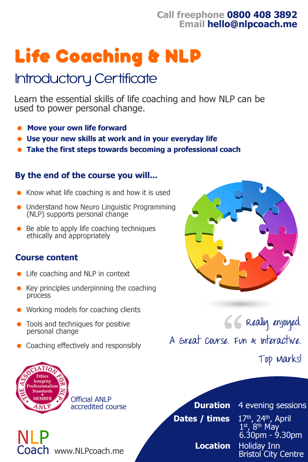 Life coaching course essex