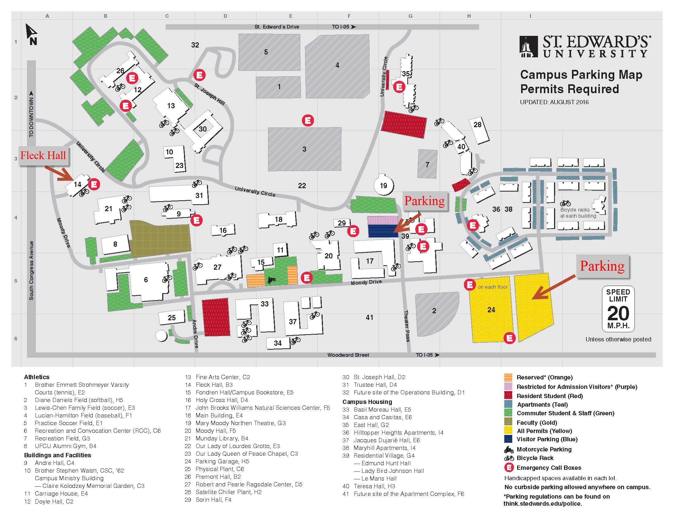 St. Edward's University Campus Map