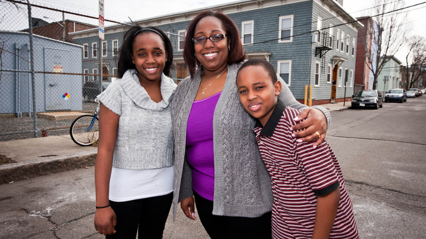 Compass client Ashana and her two children