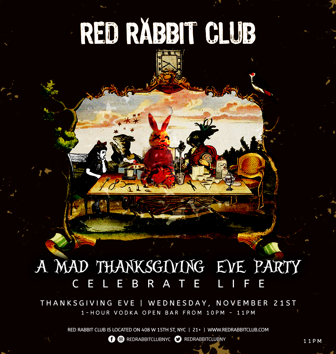 Red Rabbit Club - A Mad Thanksgiving Eve Party - Nov 21