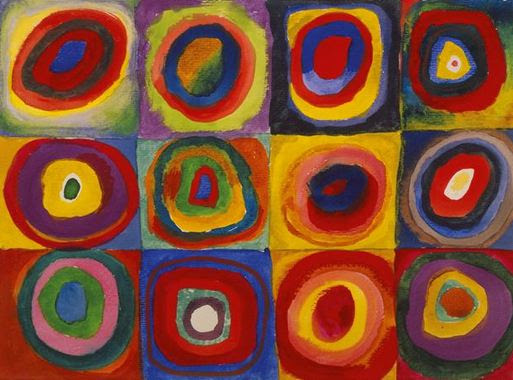 Wassily Kandinsky - Color Study. Squares with Concentric Circles 1913