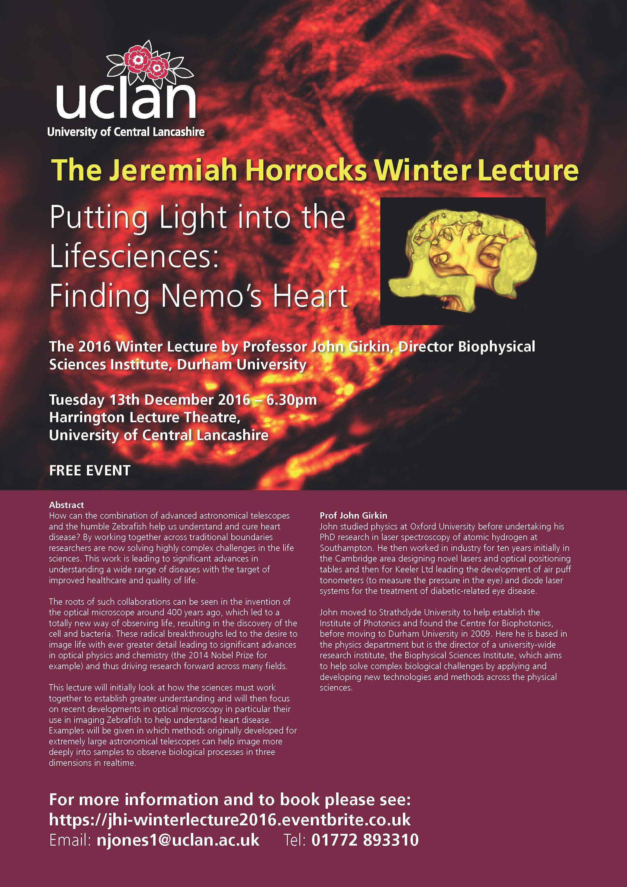 The Jeremiah Horrocks Wnter Lecture