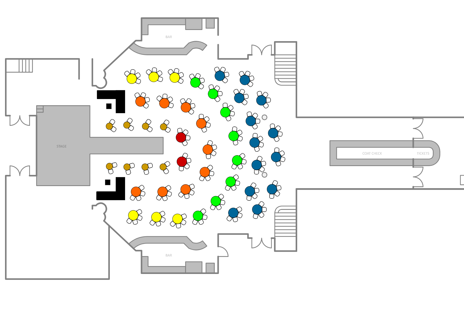 Goldie Malone's Seating Chart