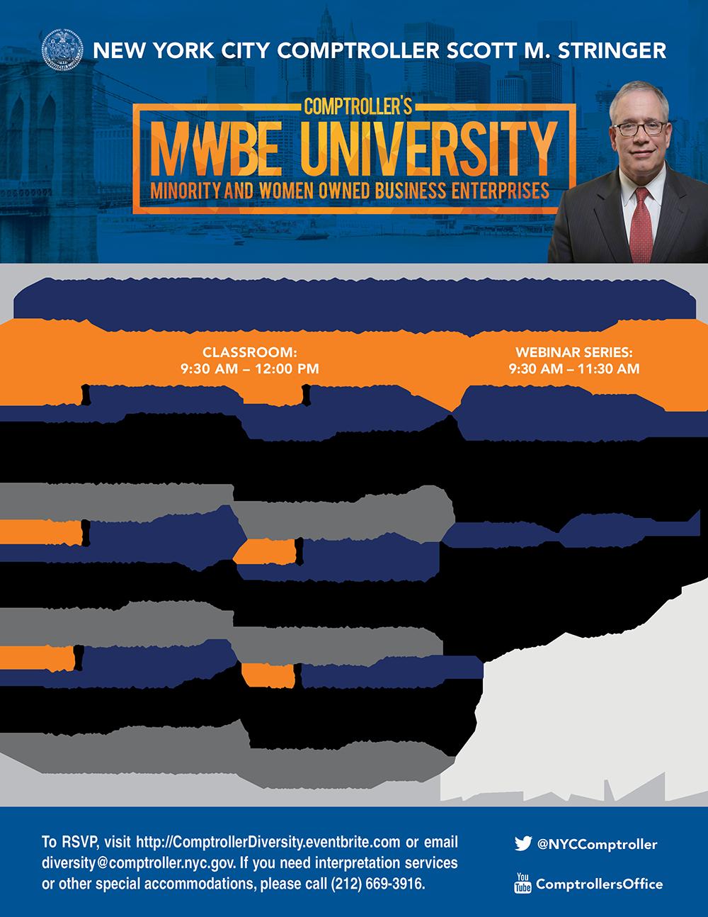 MWBE 2019 Schedule