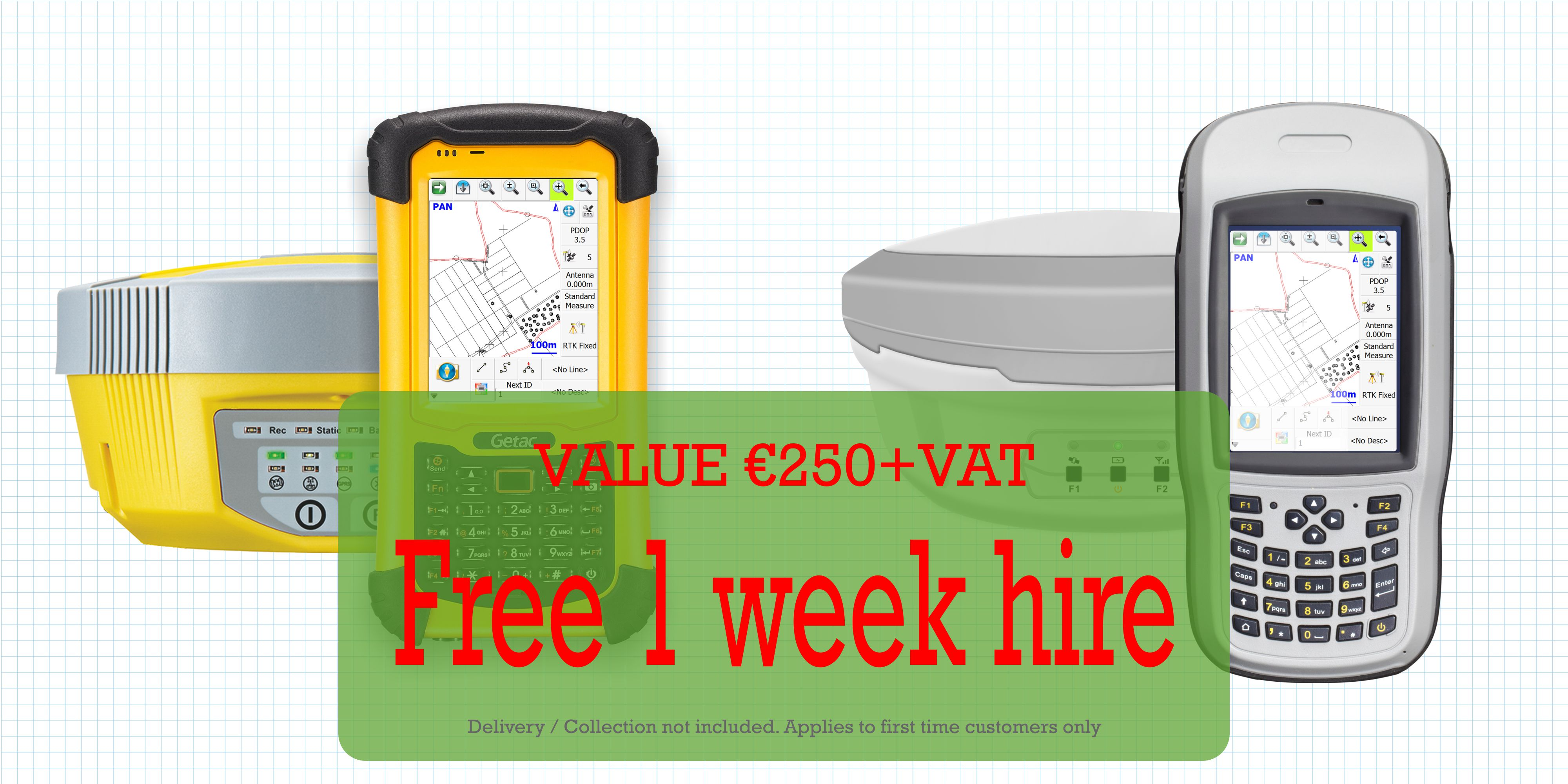 free one week hire with gps course