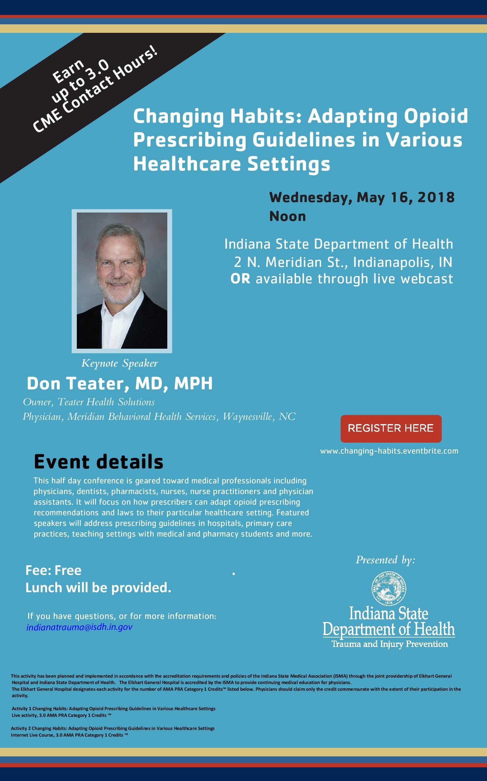 ISDH May 16th prescribing guidelines flyer