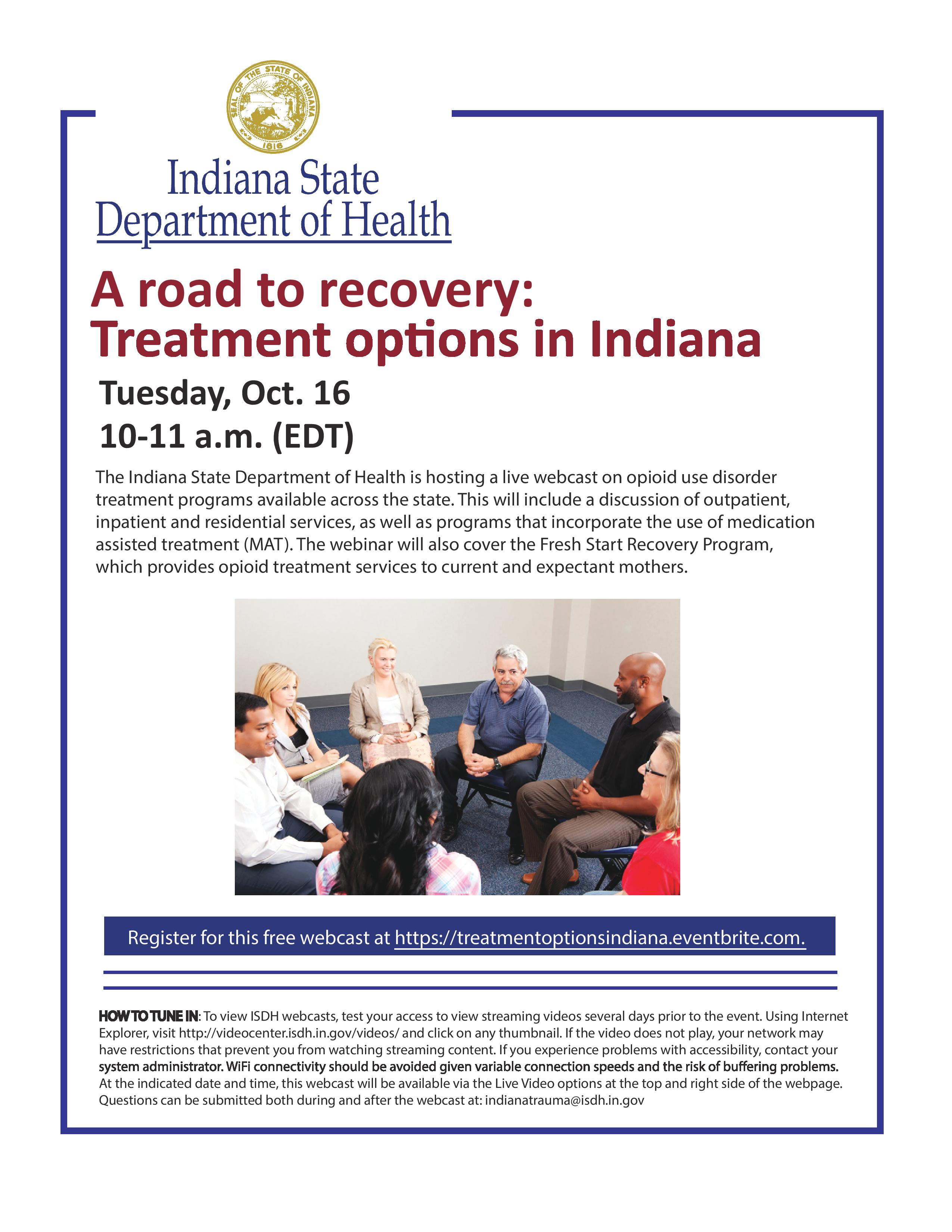 ISDH webcast flyer