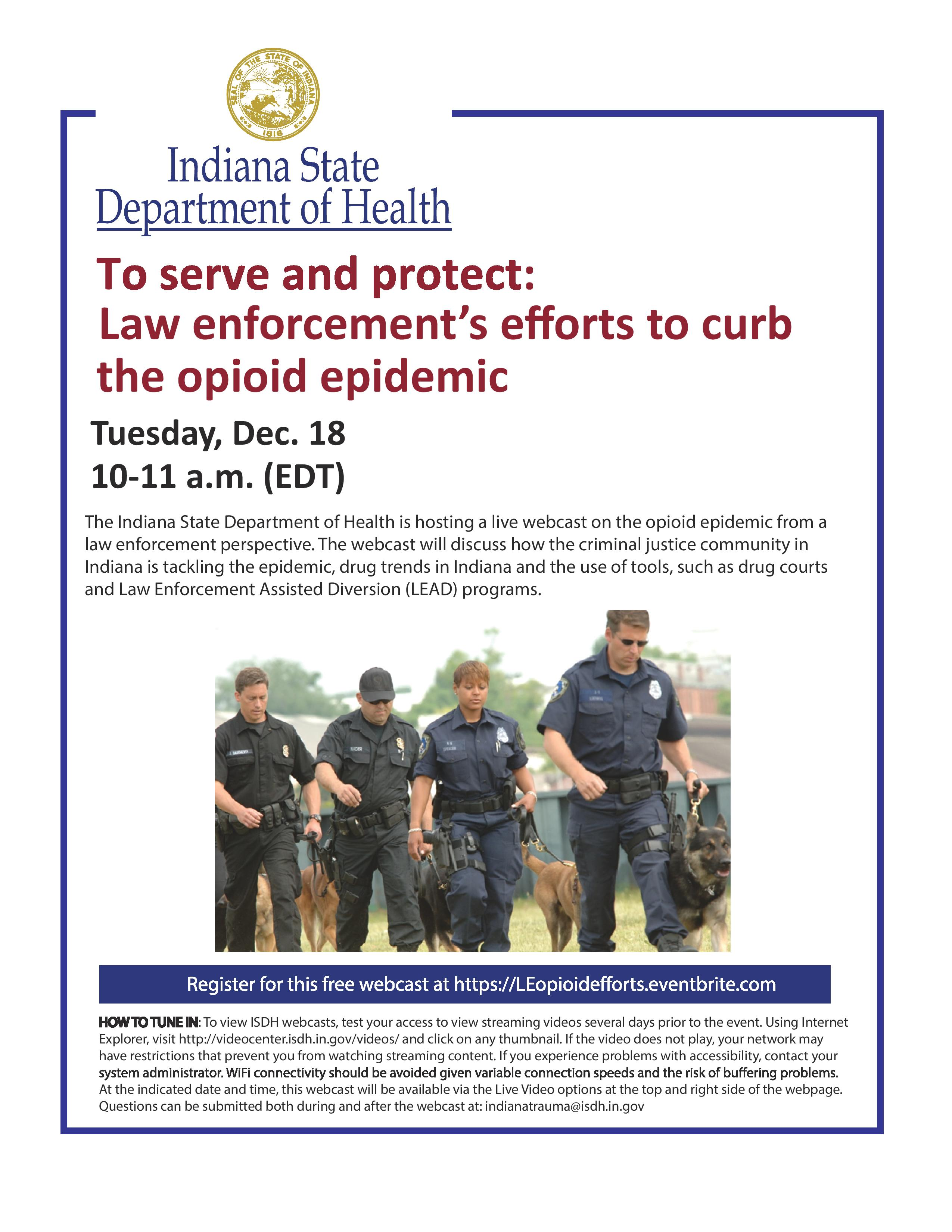 ISDH December webcast flyer