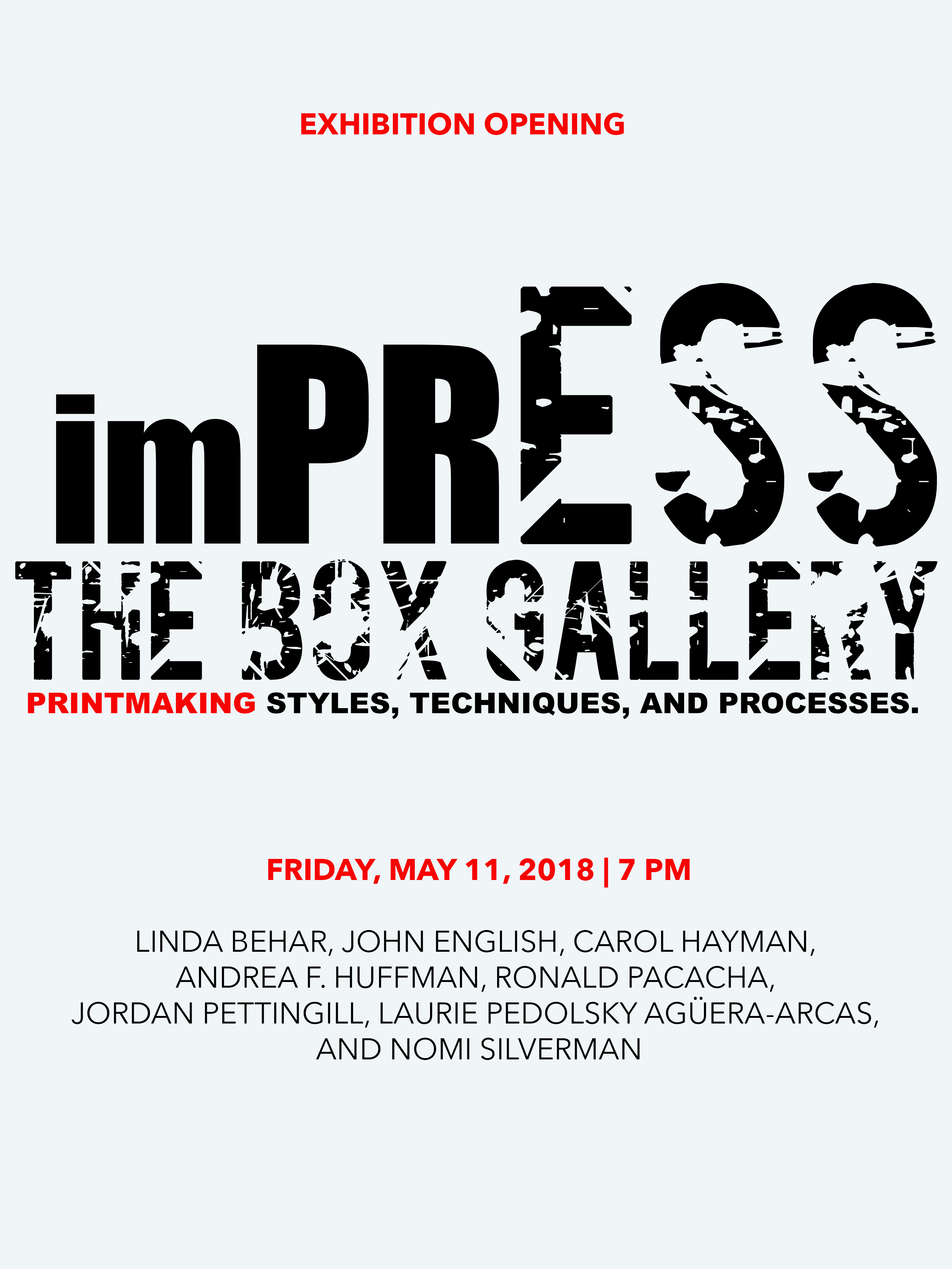 IMPRESS at The Box Gallery