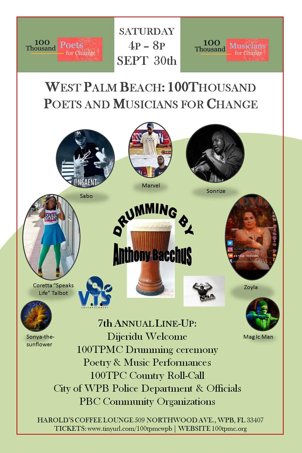 WEST PALM BEACH 100TPMC SEPT 30th 4p-8p