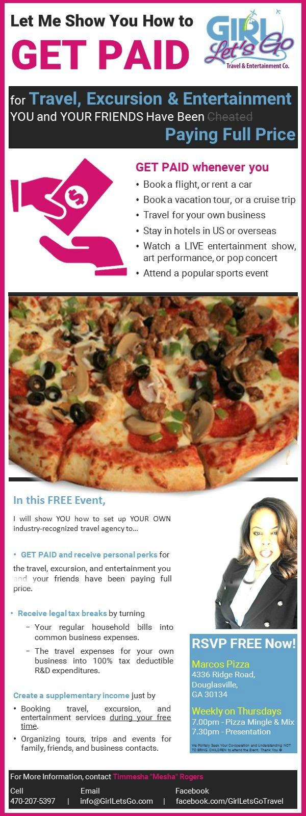 Douglasville FREE Pizza & Paycation Presentation