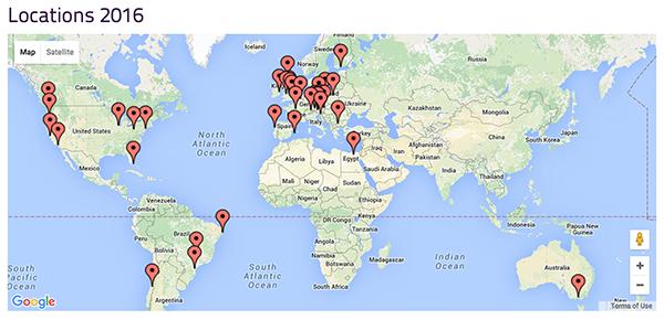 Miami Service Jam World Map