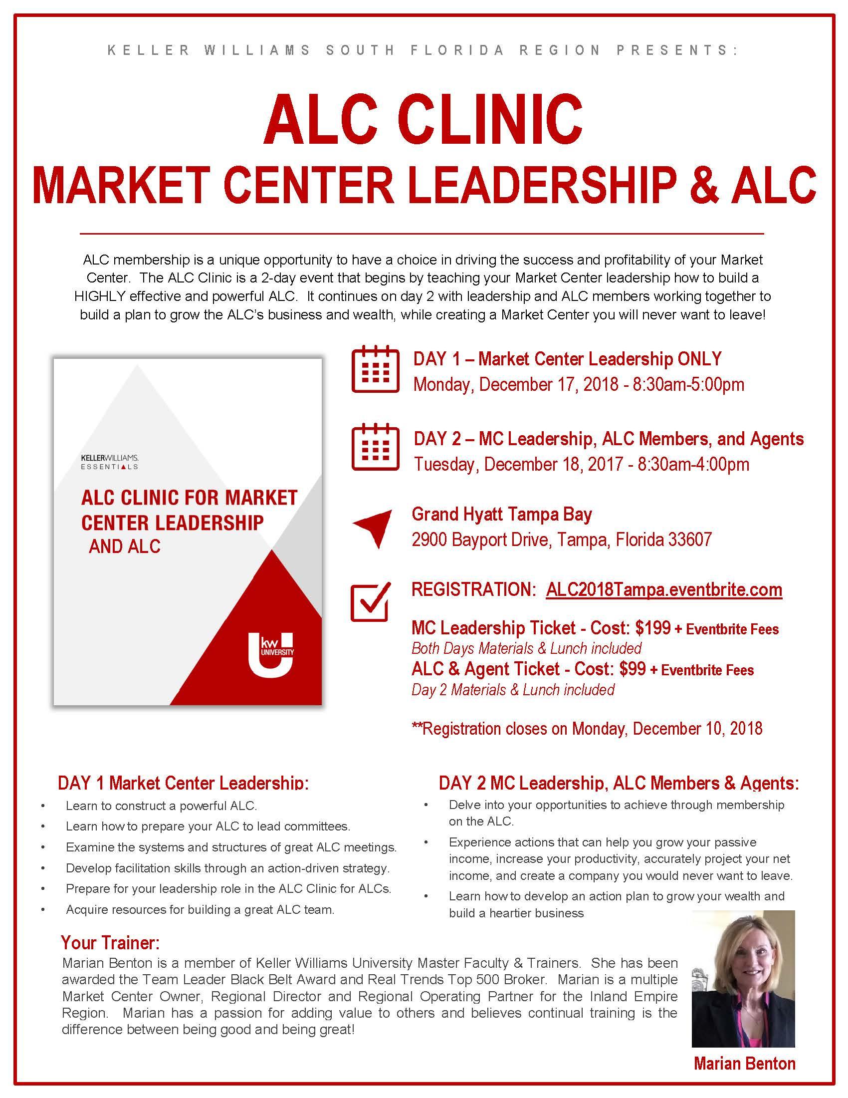 ALC Clinic 12.17-18.18 Marian Benton